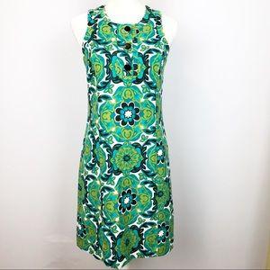Ann Taylor Medallion Print Sheath Sleeveless Dress